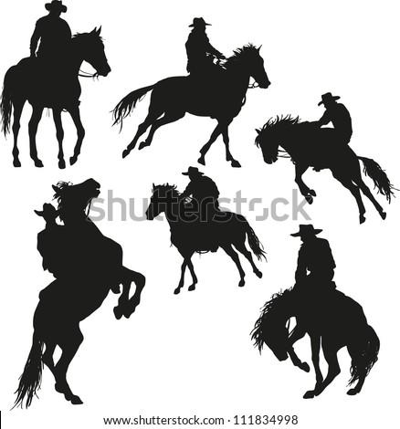 cowboy vector set 2