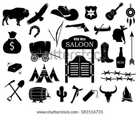 cowboy  western  wild west icon