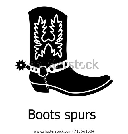 Cowgirl boot spurs icon. Simple illustration of cowgirl boot spurs vector icon for web Stock photo ©