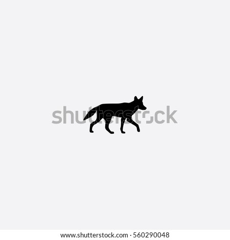 coyote icon silhouette vector