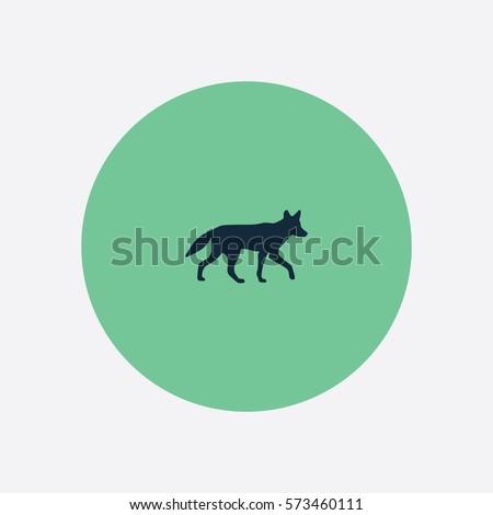 coyote icon silhouette vector