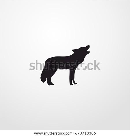 coyote icon vector sign symbol