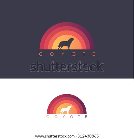 coyote logo design mark  wolf
