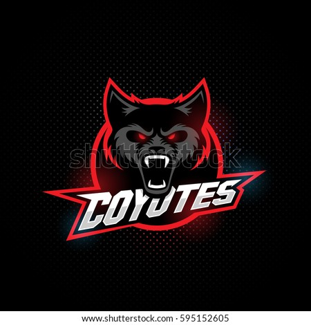 coyote mascot for a sport team