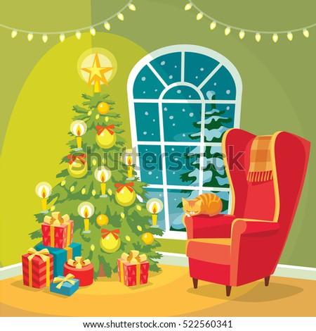 cozy christmas interior