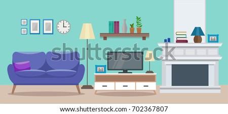 cozy interior of a modern