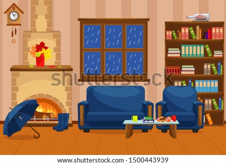 cozy warm room with fireplace