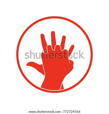 cpr icon vector clipart image