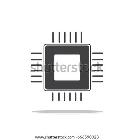cpu icon vector  central