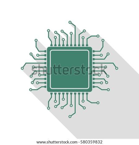 cpu microprocessor illustration