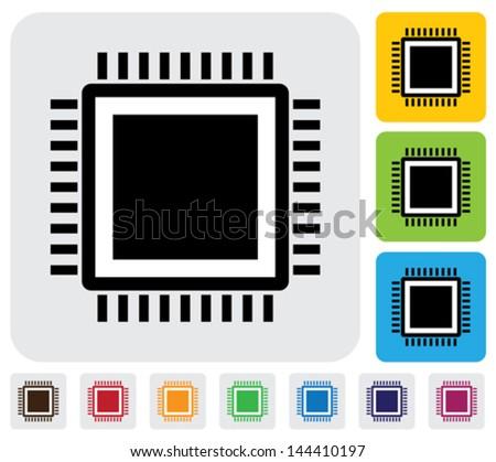 cpu or computer processor icon