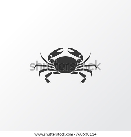 Crab Icon Symbol. Premium Quality Isolated Cancer Crab Icon Element In Trendy Style. Can Be Used For Your Web Mobile Logo Design. Stock foto ©