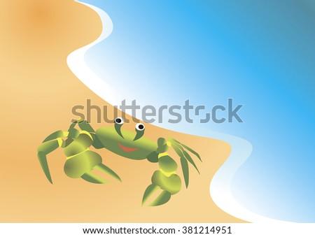 crab on sandy shore