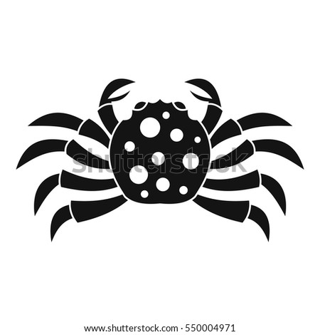 crab sea animal icon simple
