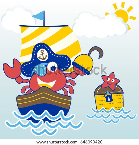 crab the cute pirate on