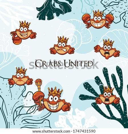 Crabs United Under The Sea