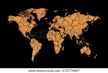 Global warming vector map download free vector art stock graphics cracked and dry earth map low poly world map global warming oil pollution gumiabroncs Images