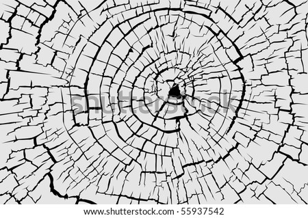 Cracked concentric pattern black on gray
