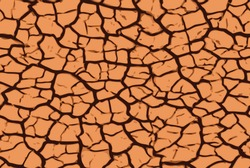 Cracked Earth. Vector seamless pattern repeat.