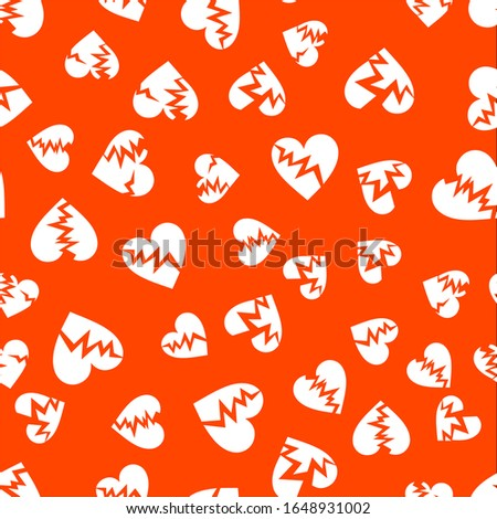 cracked hearts seamless pattern