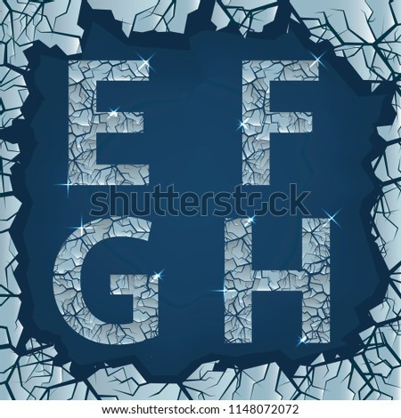cracked ice e f g h letters
