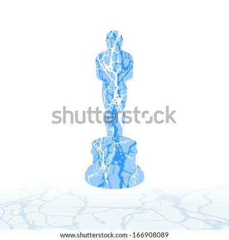 cracked ice symbols of the snow