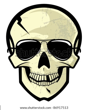 Cracked Skull Vector