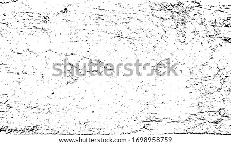 Cracked Surface Grunge Texture Vector. Uneven Overlay. Distressed Grungy Effect. Vector Illustration.Black Isolated on White Background. EPS 10.