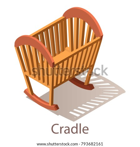 cradle icon isometric