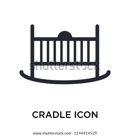 cradle icon vector isolated on