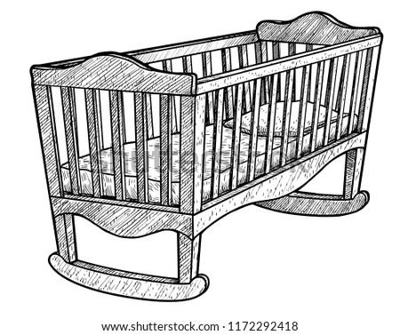 cradle illustration  drawing