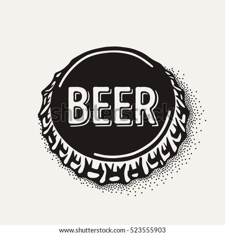 craft beer bottle cap with