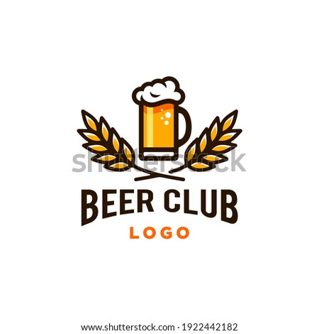 craft beer glass and malt