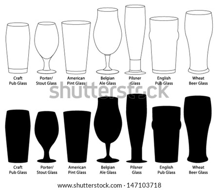 Craft Beer Glassware Stock photo ©
