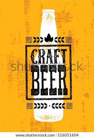 craft beer rough banner vector...