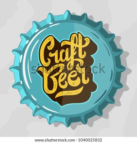craft beer script lettering