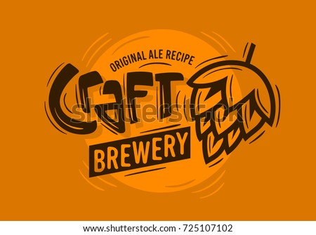 craft brewery logo with a beer