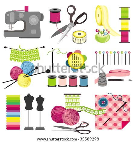 Craft icons - Sewing Icons for sewing, knitting, crafts, hobbies