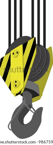 Crane Hook isolated on a white background