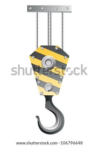 Crane hook isolated on white background  VECTOR