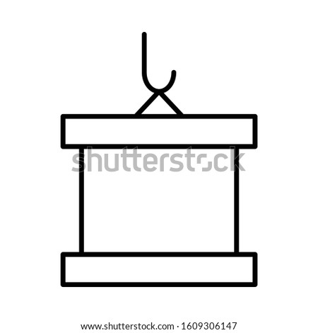 crane hook vector icon or logo illustration on white background. Perfect use for website, pattern, design, etc.