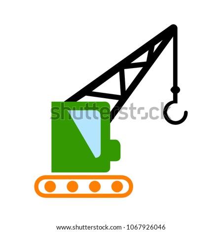crane icon - vector construction crane, building construction symbol