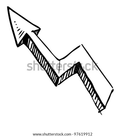 Crankle Hand Drawing Arrow. Sketch Vector Symbol - 97619912  Shutterstock