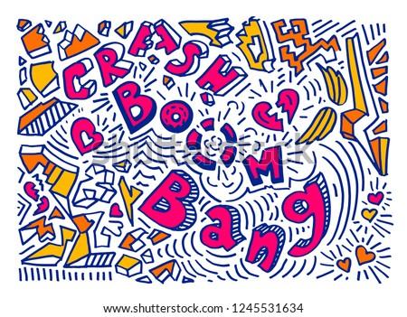 crash boom bang colourful