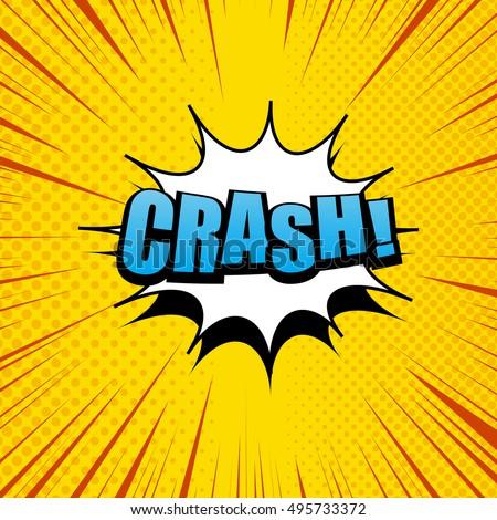 crash comic cartoon in yellow