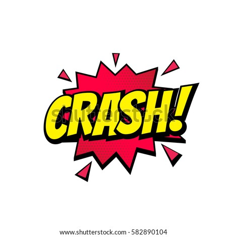 crash comic text speech bubble