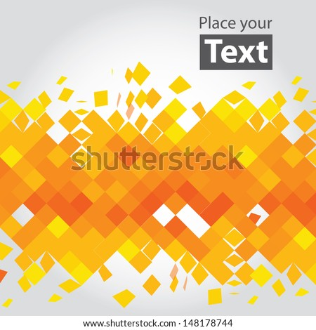 crashed yellow squares vector
