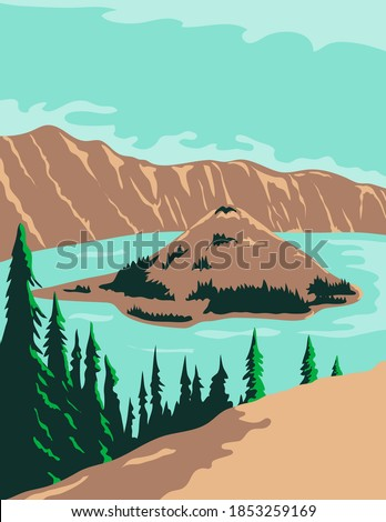 crater lake national park in