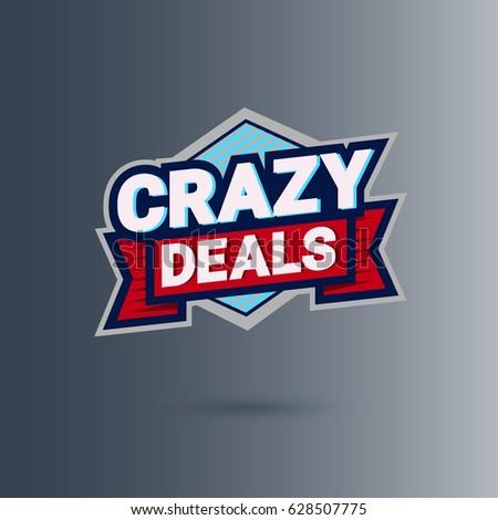 crazy deal logo design