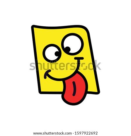 Crazy Emoji. Crazy face design